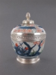A regence silver mounted japanese imari porcelain pot and cover