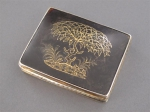 A silver-gilt and tortoiseshell snuff box