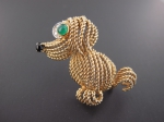 Broche Chien en or
