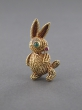Broche Lapin en or